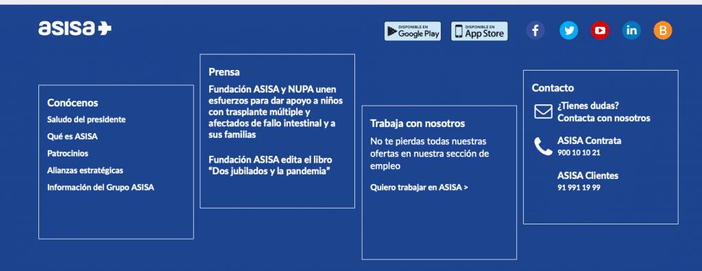 Asisa ofrece un 900 para futuros clientes y un fijo a sus clientes para atención al cliente