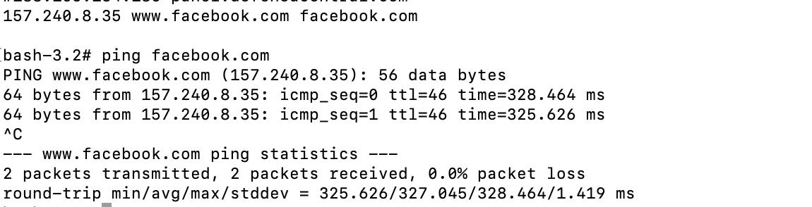 Facebook cambiando DNS a IP de Australia