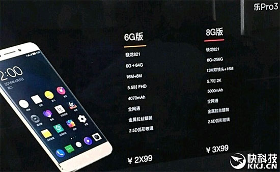 LeEcoPro3con8GBy256GB