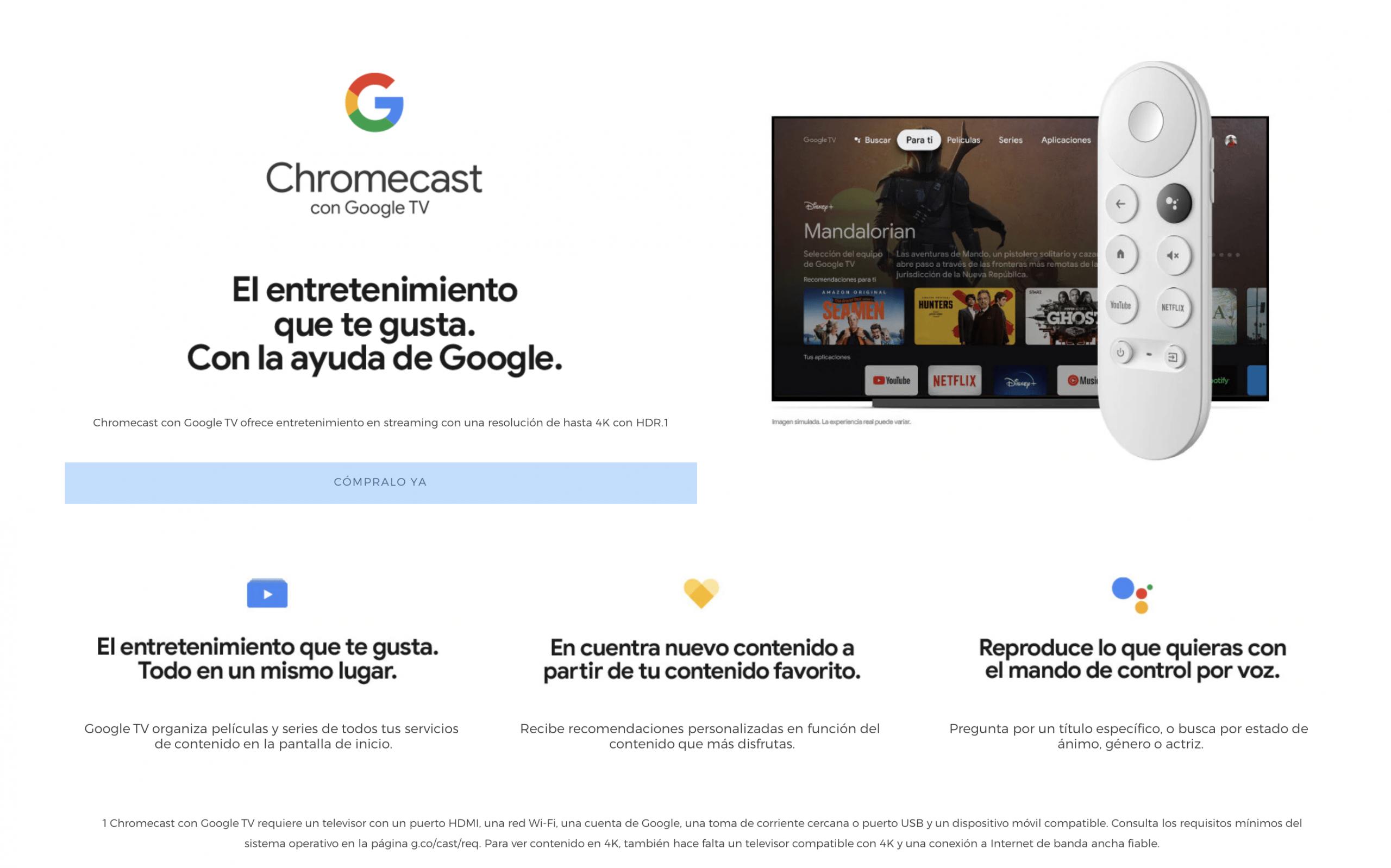 Chromecast con Google TV sin internet en casa