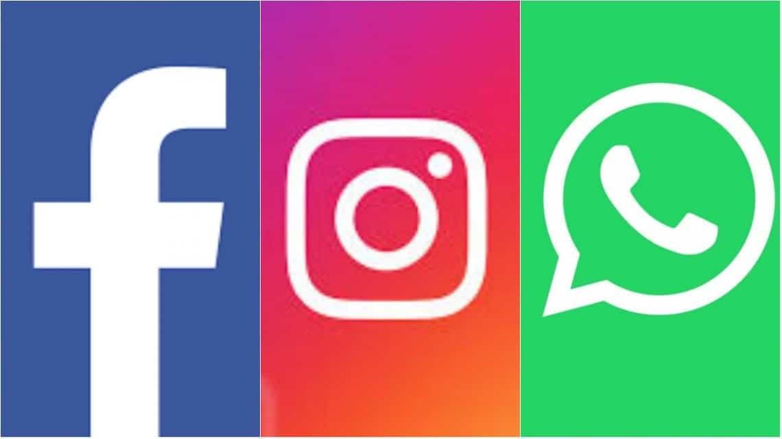 Facebook Instagram Whatsapp caídos