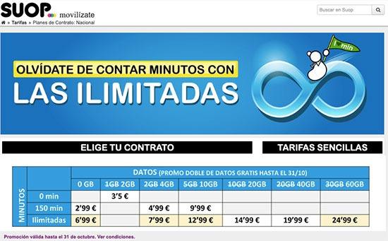 Nueva Ilimitada 30GB en SUOP