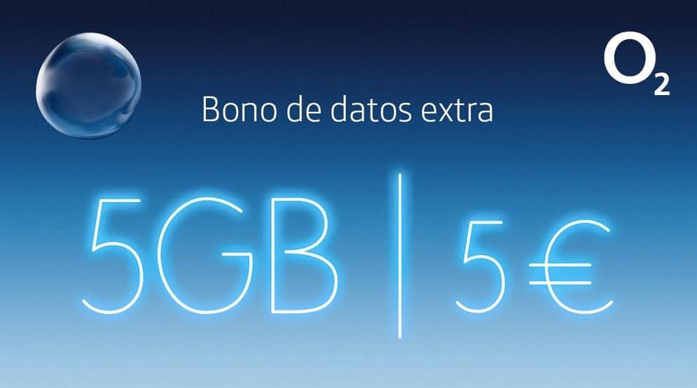 O2 bono de 5GB 5€ extra