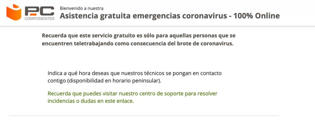 Pccomponentes ayudará a teletrabajadores por el coronavirus gratis