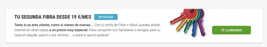 Segunda vivienda internet en casa por 19€ en YOIGO