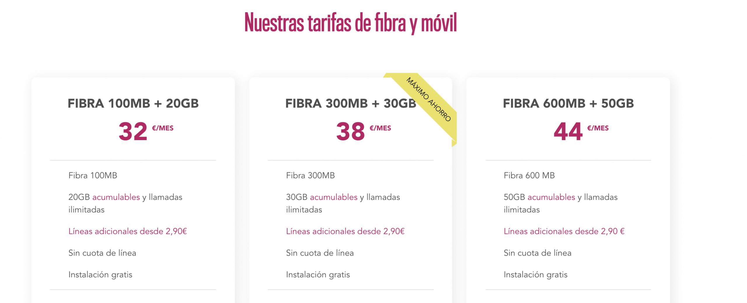 Tarifas Fibra Movil Olephone 2021